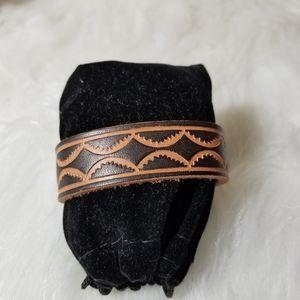 Nwt brown tan leather bracelet
